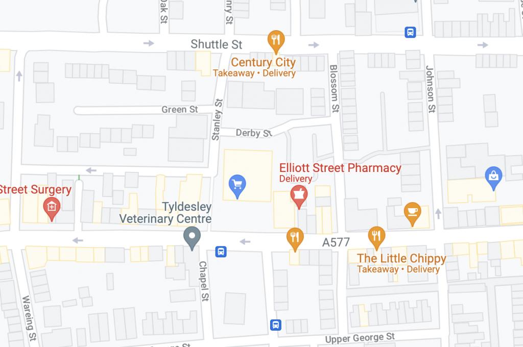 Tyldesley-Map